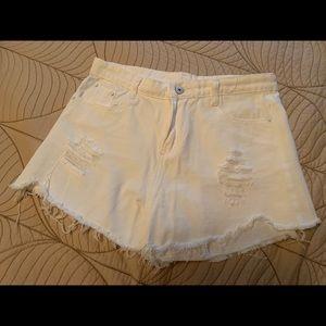 3/$35 Shein White High Waisted Shorts